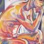 uomo pensante, olio su tela 60 x 80, 2002